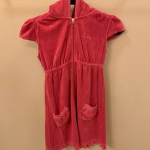Juicy Couture Girl Size 12 Pink Short Sleeve Dress